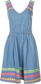 René Derhy DECIGRADE Sukienka jeansowa niebieski RD521C033-K11