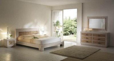 Bortoli Komplet sypialniany z bambusa Rumba (Łóżko 140)
