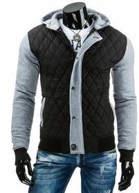Męska kurtka przejściowa czarna (tx1006) - czarny