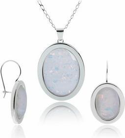 AnKa Biżuteria Srebrna bizuteria: Komplet biżuterii srebro Opal
