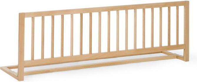 Childhome Drewniana barierka do łóżka, naturalna,