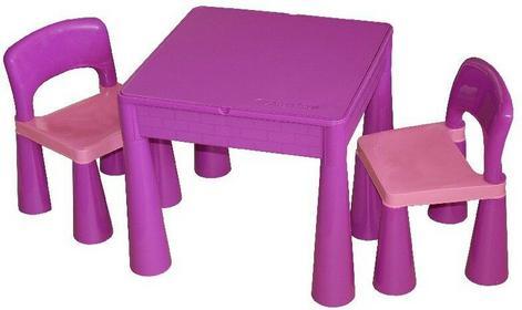 Tega Baby Stolik i 2 krzesła zestaw mebli dziecięcych fioletowy
