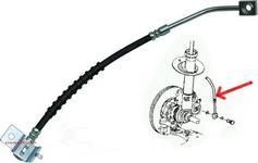 CORTEKO Przewód elastyczny przedniego zacisku hamulcowego PRAWY Chrysler PT