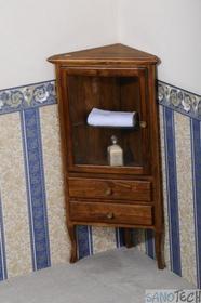 Erra Retro szafka narożna stojąca lewa 1701 buk 60x120x47