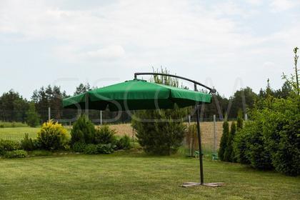 Furnide Składany Parasol Ogrodowy 300cm na wysięgniku bocznym - Zielony - STABIL