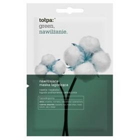 Tołpa Green Nawilżenie, nawilżająca maska łagodząca twarz, szyję i dekolt, 2 x 6ml