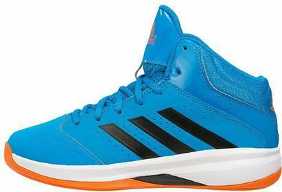 Adidas Performance ISOLATION 2 Obuwie do koszykówki solar blue/core black/orange
