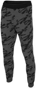 4F [T4L16-SPMD204] Spodnie dresowe męskie SPMD204 - średnioszary melanż