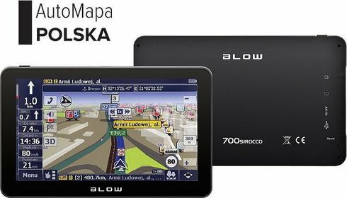 Blow GPS700 Sirocco AutoMapa Polska