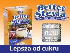 NOW Foods Better Stevia saszetki - 100 torebek w pudełku 8341-110E2