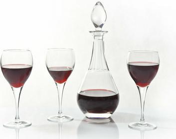 Bohemia Kryształ karafka + Kieliszki do wina - Fiona Jihlava