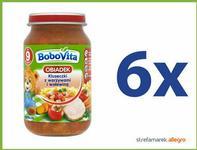 BoboVita (Nutricia) Obiadek Kluseczki z warzywami i wołowiną po 9 miesiącu ZESTAW 6x190g