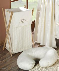 Mamo-Tato Kosz na bielizn śpiący miś w kremie
