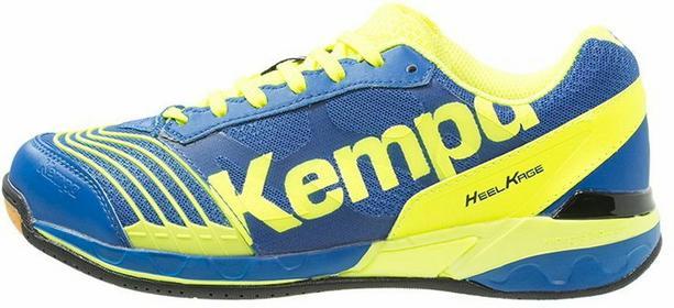 Kempa ATTACK TWO Buty do piłki ręcznej royal/fluo gelb 200844502
