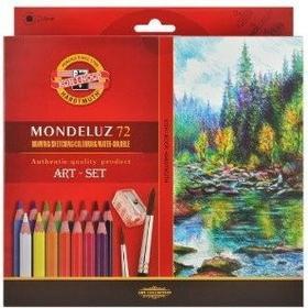 Koh-I-Noor Kredki akwarelowe Mondeluz 72 kolorów 3714 + akcesoria