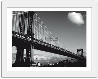 Feeby Most na Manhattanie, Obrazy w ramie - Biały