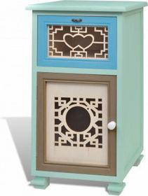 Kolorowa szafka, 1 szuflada, 1 drzwi doskonałe rzemiosło