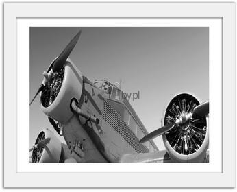 Feeby Stary samolot, Obrazy w ramie - Biały