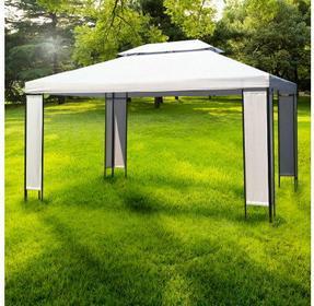 Ogrodowa altana, namiot ogrodowy, z podwójnym dachem.