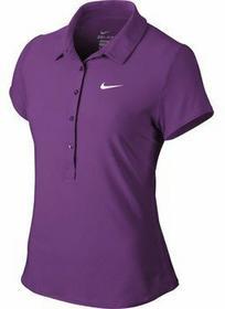 Nike KoszuLki polo krótki rękaw Advantage polo Purple dusk / biały kobieta
