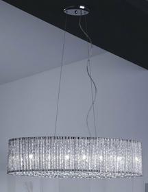 Italux Żyrandol KRYSZTAŁOWY dekoracyjna LAMPA wisząca DO salonu ANABELLA P0207-06E-F4QL IP20 crystal Chrom przezroczysty