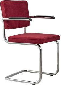 Zuiver Krzesło Ridge Rib z podłokietnikami czerwone 1006051