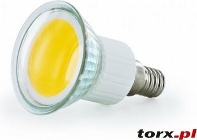 Whitenergy Żarówka LED COB 2.5W,E14 230V,2700k ciepła biała 08230
