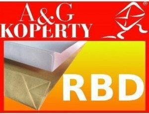 A&G Koperta Koperty C5 RBD rozszerzane HK samoklejące z paskiem 162x229x32 brązo