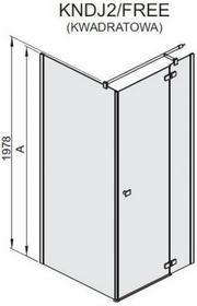 Sanplast Free Line 100 KNDJ2/FREE-100 100x100 profil srebrny błyszczący szkło W0
