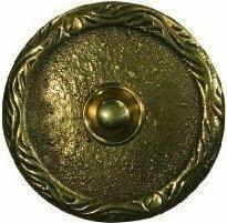 Zamel Przycisk dzwonkowy mosiężny z szyldem okrągłym PDM-231