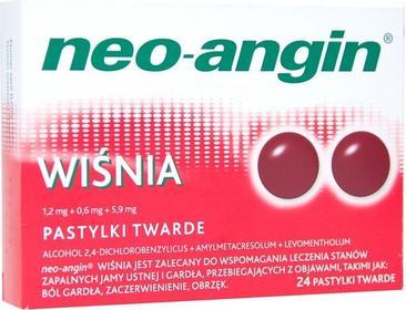 Divapharma Neo-Angin Wiśnia 24 szt.