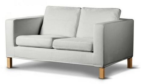 Dekoria Pokrowiec na sofę Karlanda 2-osobową nierozkładaną, krótki Cotton Panama