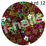 I-nails special Kwiatuszki z dziurką kzd12 (wor.str.) bordo aqua opal