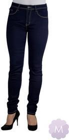 Vavell Spodnie jeansy rurki z wyższym stanem granatowy