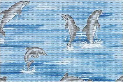 Bisk Mata piankowa dolphin 50 x 80 cm niebieski