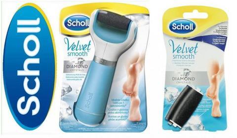 Scholl Velvet Smooth Diamond elektroniczny pilnik do stóp niebieski