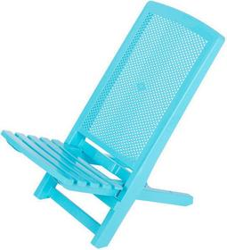ProGarden Składana leżanka SWEET CANDY, krzesło ogrodowe - niebieski