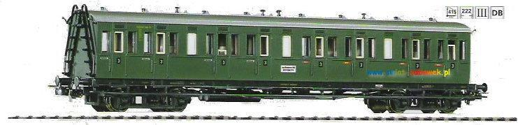 Piko – Wagon osobowy Abteilwagen C4b DB Ep III o.Bh. (53211)