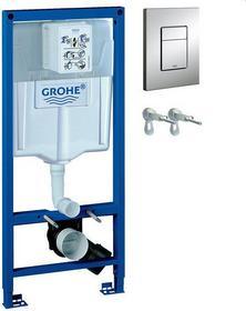 Grohe Stelaż podtynkowy do WC z przyciskiem spłukującym Rapid SL 3w1 38536001+38732000