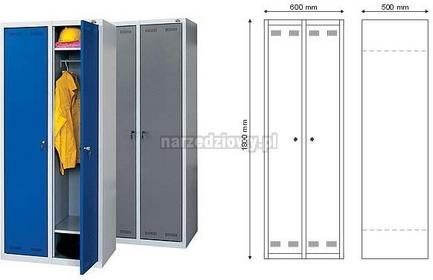 FAST SERVICE szafa BHP 2 - drzwiowa jednoosobowa (dwukomorowa) S-2-02-00