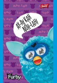 Notatnik A7 Furby w kratkę 50 stron fioletowy-