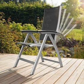 Fotel wielopozycyjny grafitowo-brązowy 0100101-7200