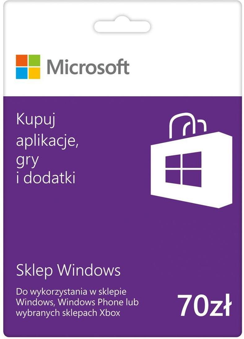 Microsoft Karta Windows CSV, 70 PLN