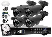 Zestaw do monitoringu 4x Kamera HD z IR do 20m