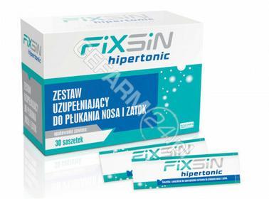 SOLINEA Fixsin hipertonic zestaw uzupełniający do płukania nosa i zatok x 30 sasz