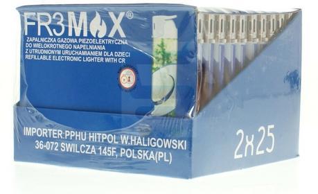 Zapalniczka piezoelektryczna gazowa fr3max 50 szt.