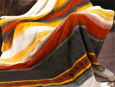 Laris Polska Koc bawełniany z frędzlami Moreno 150 x 200