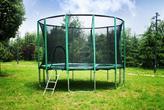 Gofit 366 cm Trampolina ogrodowa z siatką zabezpieczającą