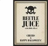 Etykiety na alkohol Beetle juice, 1op.