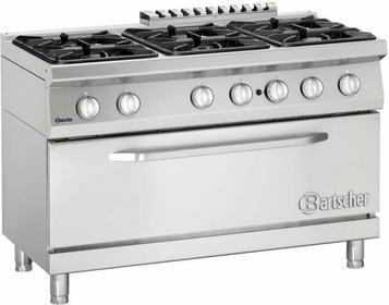 Bartscher 6-palnikowa Kuchnia gazowa z dużym piekarnikiem gazowym BT2852261